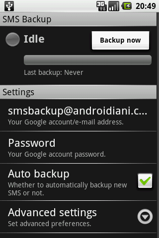 Sms Backup su Android