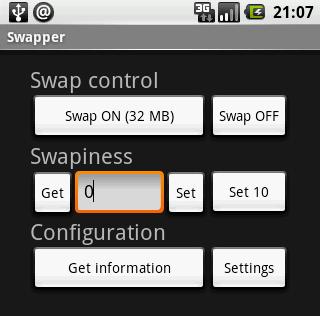 Swapper - Come estendere la RAM(memoria volatile) di Android attivando lo Swap