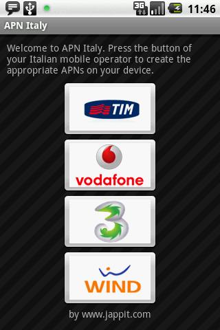 APN Italy - Come impostare automaticamente APN per internet e mms con Android
