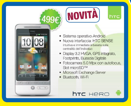 HTC Hero a 499€ da euronics