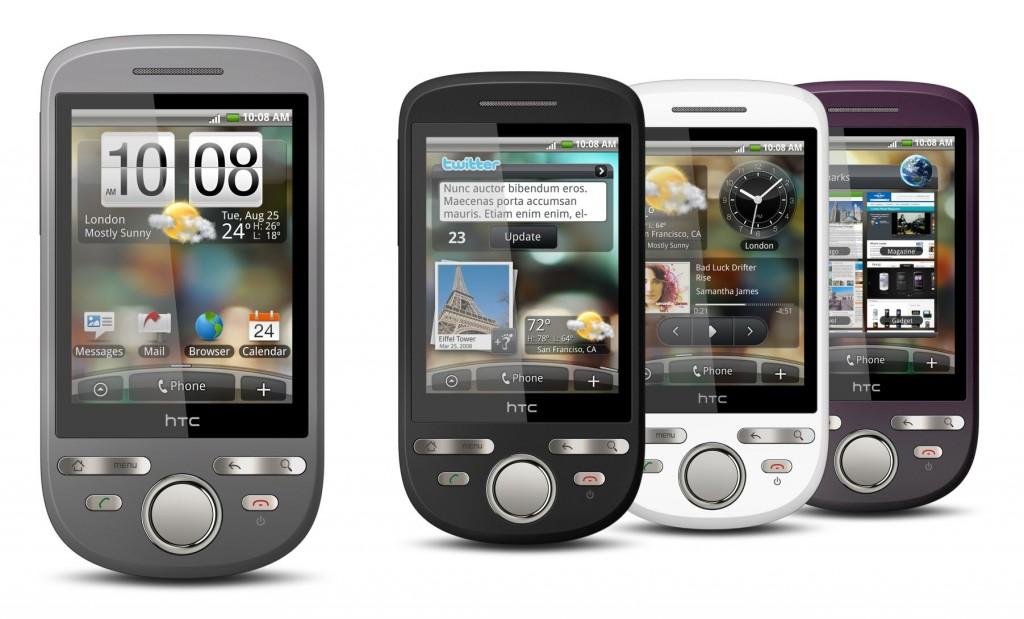 Varie forme e colori dell'HTC Tattoo
