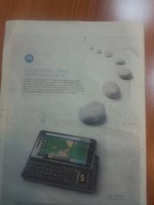 Motorola Milestone parte la campagna pubblicitaria!