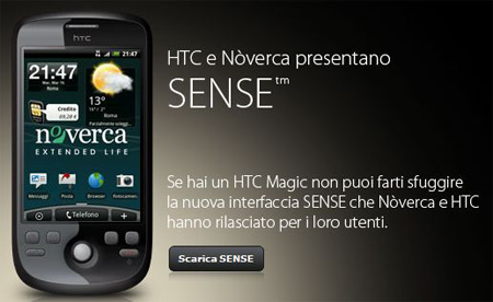 HTC Magic Noverca: rilasciata l'interfaccia Sense