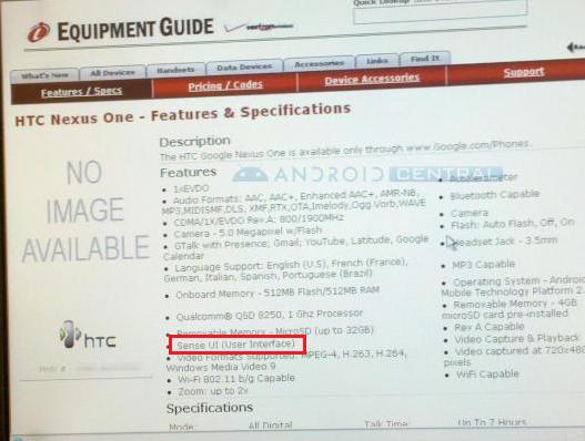 Il Nexus One di Verizon avrà l'interfaccia Sense? [AGGIORNATO]