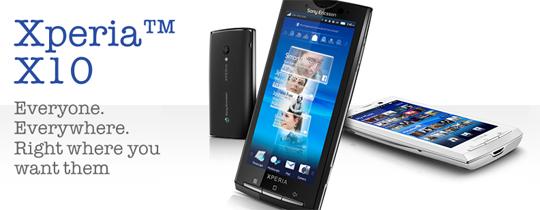 Sony Ericsson Xperia X10 con Android 2.1 negli USA?
