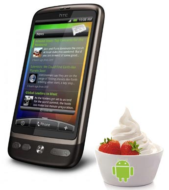 HTC Desire: Froyo 2.2 in arrivo il 23 Giugno?