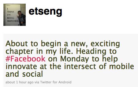 Erick Tseng lascia Google e Android per unirsi a Facebook