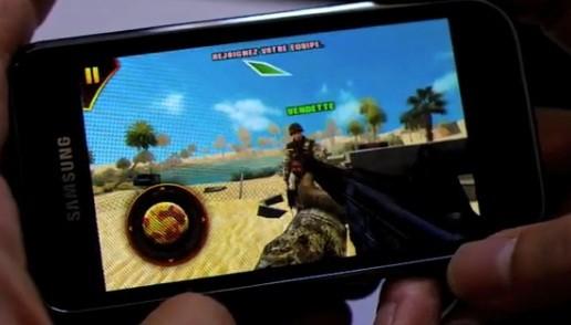Samsung Galaxy S: Modern Combat Sandstorm e NOVA in azione