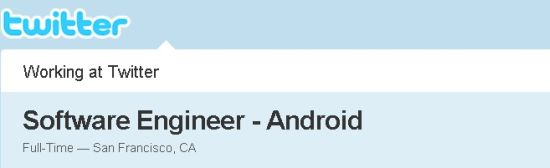 Twitter alla ricerca di un Software Engineer per Android
