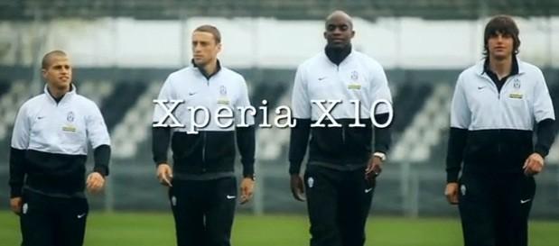 I primi tre spot Xperia X10 con Sissoko e Giovinco