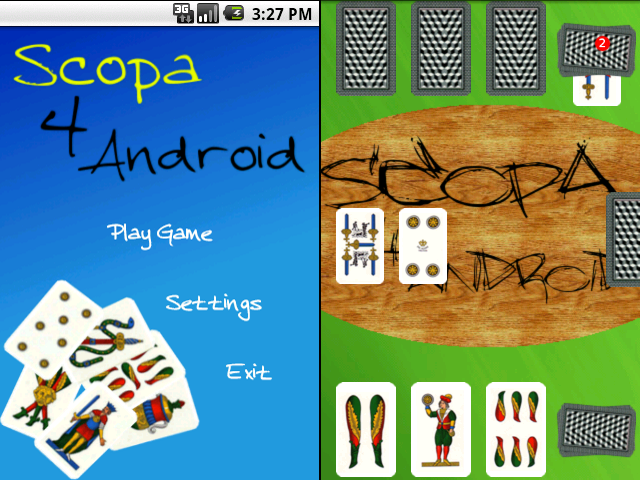 Scopa4Android: il gioco della scopa per android!