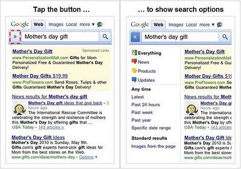 Google aggiorna il look della versione mobile