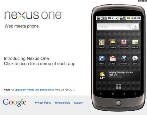 Nexus One: stop alla vendita online