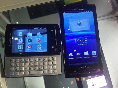 Sony Ericsson serie X10: Android 2.1