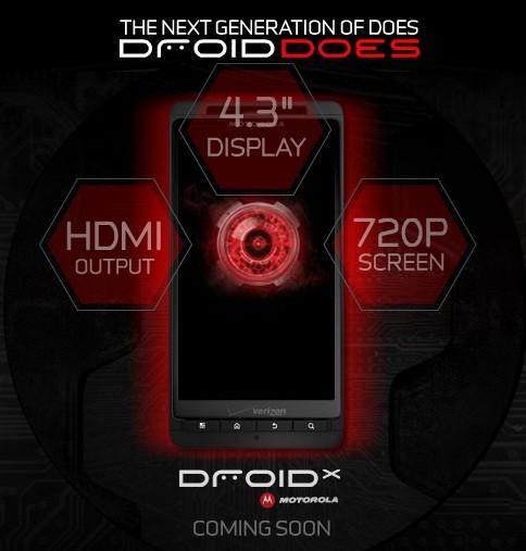 Motorola Droid X si mostra ufficialmente sul sito Verizon