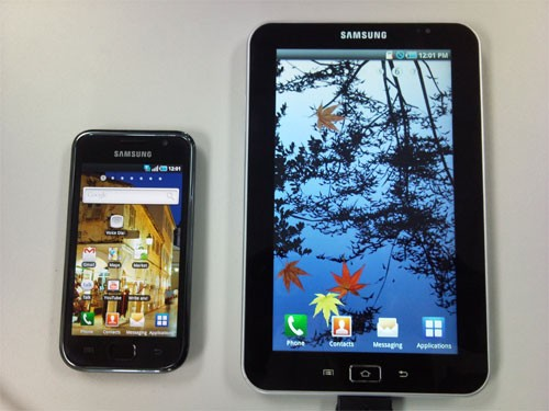 Samsung Galaxy Tab, Android 2.2 e processore A8 da 1.2 ghz?