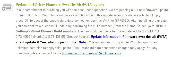 HTC Hero, disponibile l'aggiornamento di preparazione ad Eclair 2.1 [AGGIORNATO]