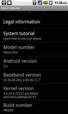 Nexus One, rilasciato ufficialmente l'aggiornamento a Froyo 2.2
