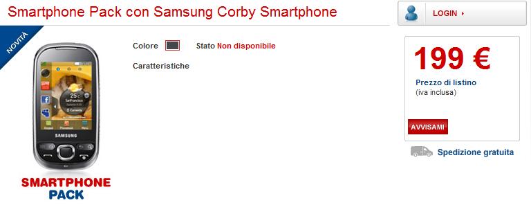 Samsung Corby Smartphone i5500 sul listino TIM