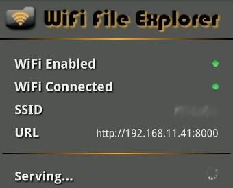 Accedi alla tua scheda SD tramite il tuo Browser Web