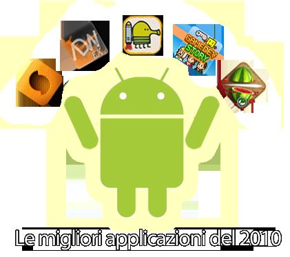 Android, Le migliori applicazioni a pagamento del 2010