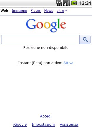 Google Instant disponibile anche in Italia