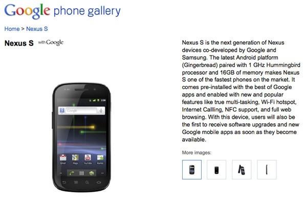 Samsung Nexus S ufficiale! Lancio ufficiale negli USA: 16 Dicembre [AGGIORNATO: Prezzo 529$]