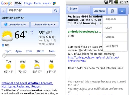 Due nuovi servizi mobile da Google: Cloud Print & Meteo