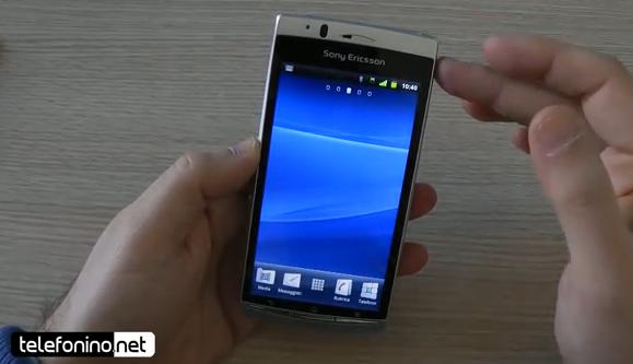 Sony Ericsson Xperia Arc, videopreview da Telefonino.net
