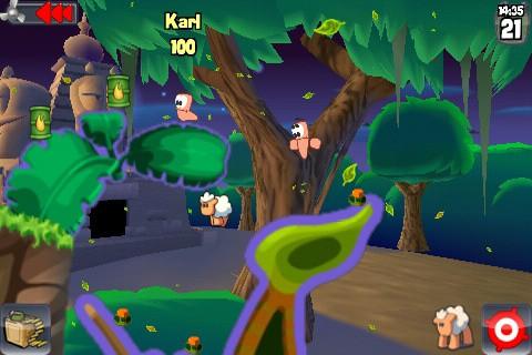 Worms di EA Mobile disponibile nel Market