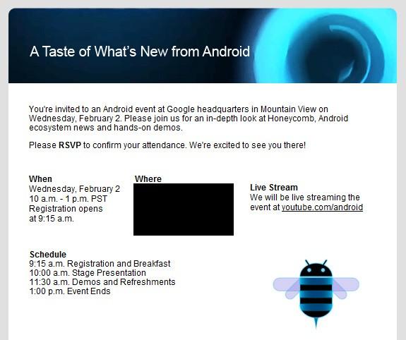 Google fissa un evento Android per il 2 Febbraio