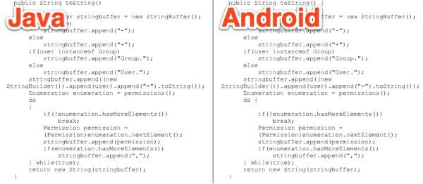 Oracle vs. Google, Android contiene codice copiato da Java