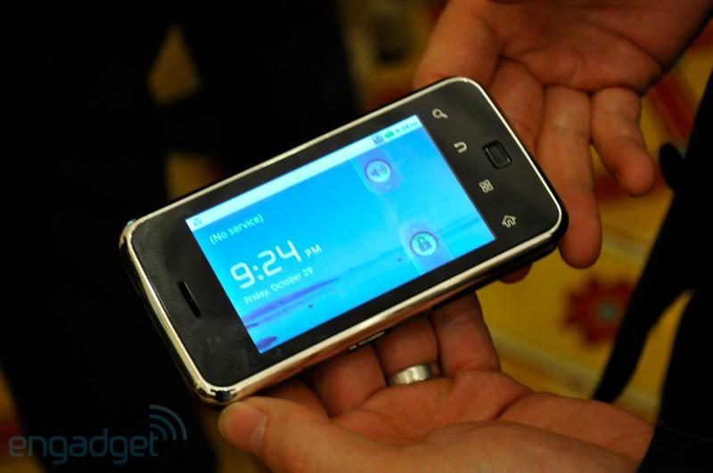 Microvision presenta un prototipo Android con proiettore integrato