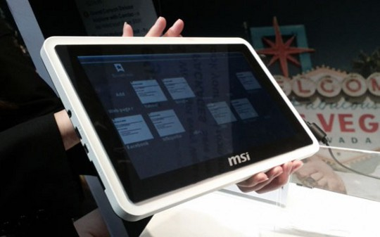 MSI WindPad 100A con Tegra 2 al CES – Foto e video