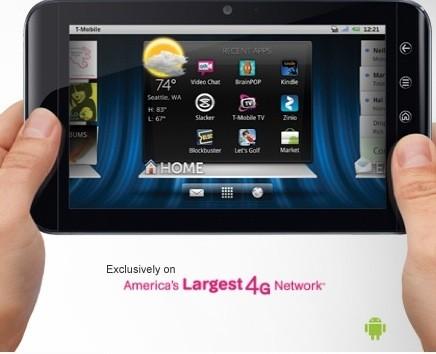 Dell streak 7: 450 dollari con t-mobile senza contratto