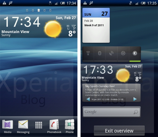 Disponibile il Launcher e i Widget del Sony Ericsson Xperia Arc