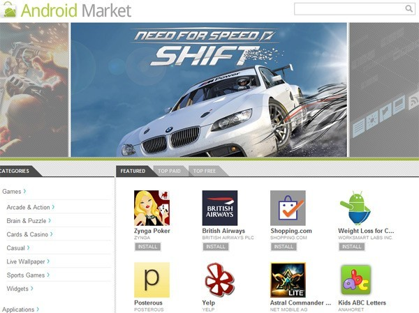 Google svela l'Android Market WebStore!