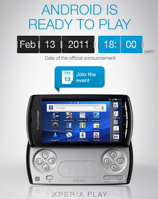 Sony Ericsson Xperia Play: presentazione ufficiale il 13 Febbraio