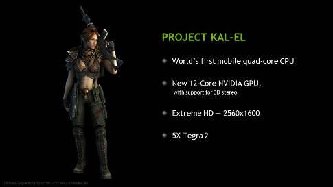 Nvidia svela Kal-El, CPU quad-core per smartphone e tablet