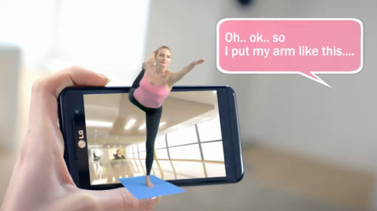 LG Optimus 3D a lezione di Yoga - Video promo