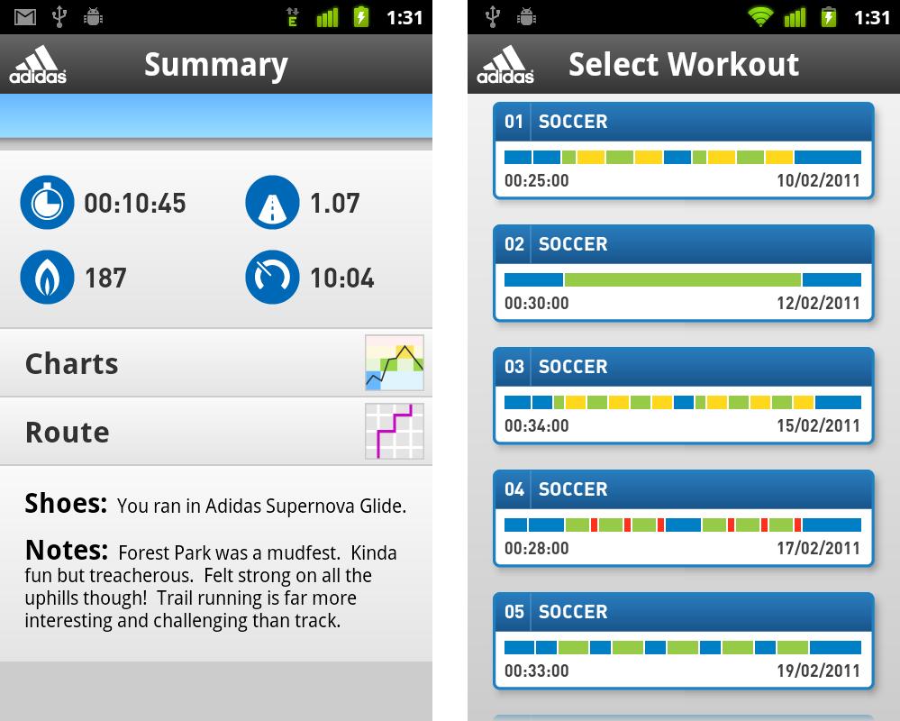 miCoach, il personal trainer di Adidas per Android