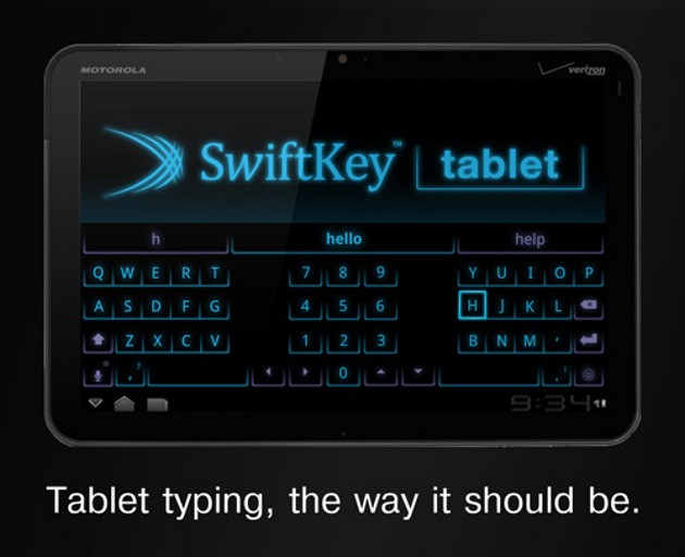 SwiftKey, un nuovo look per i tablet Android (video)