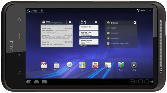 Android 3.0 Honeycomb su HTC Desire HD (video)
