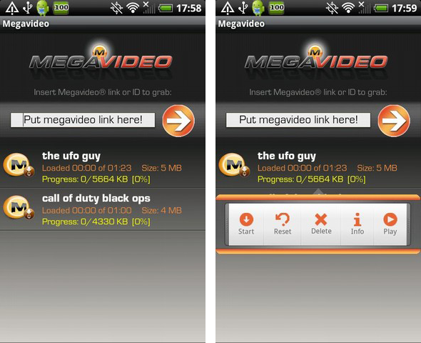 Megavideo per Android: scaricare e visualizzare i video di Megavideo!