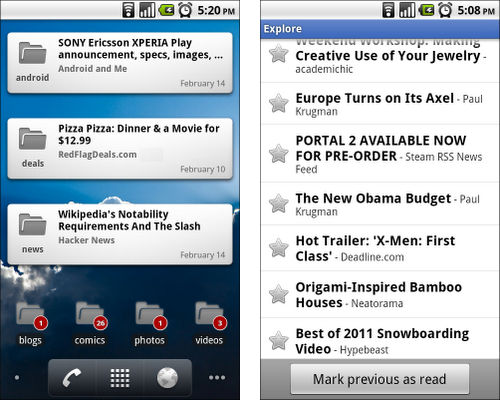 Google Reader si aggiorna introducendo i widget