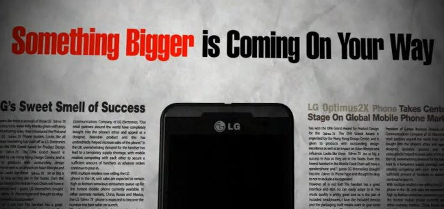 LG Optimus 3D in un primo video teaser