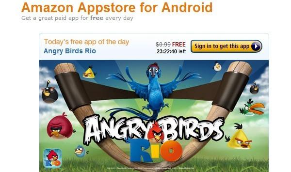 L'Amazon Appstore apre i battenti e regala Angry Birds Rio