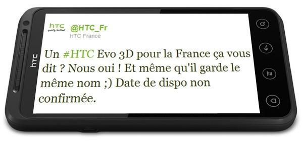 HTC France conferma l'arrivo di EVO 3D in Europa