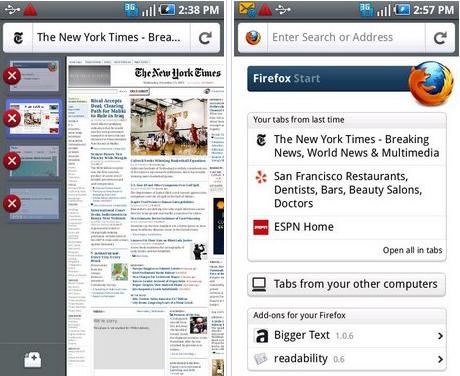 Mozilla rilascia la versione finale di Firefox 4 per Android