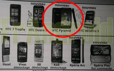 HTC Pyramid in Francia alla fine di Maggio
